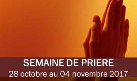 Semaine de prière – Week of prayer – Semana de oracion 2017